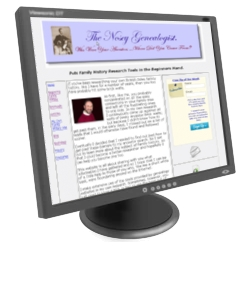 NoseyGenealogist.com web site on screen